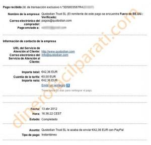 Comprobante de pago de Qustodian (42€) y nuevas medidas de seguridad
