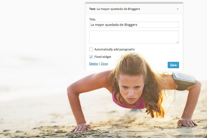fijar widgets en wordpress