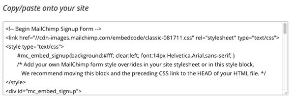 codigo-para-insertar-mailchimp